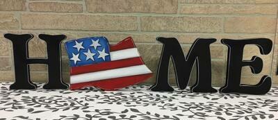 4th of July Flag Home Shelf Sitter
