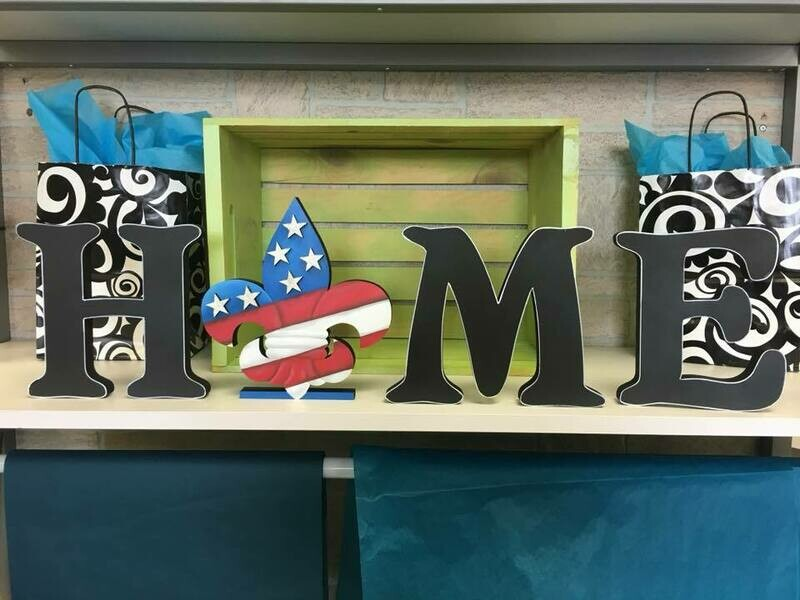4th of July FDL Home Shelf Sitter Insert Only