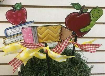 School Flower Pot Stakes