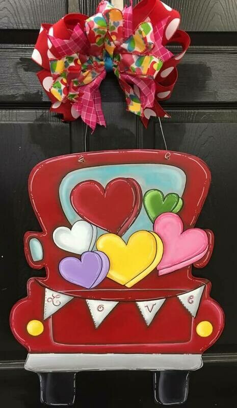 DIY Pickup truck with hearts
