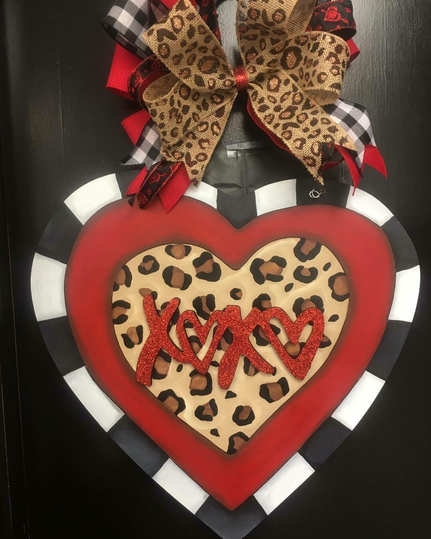 "Cheetah Print Heart ""XOXO"""