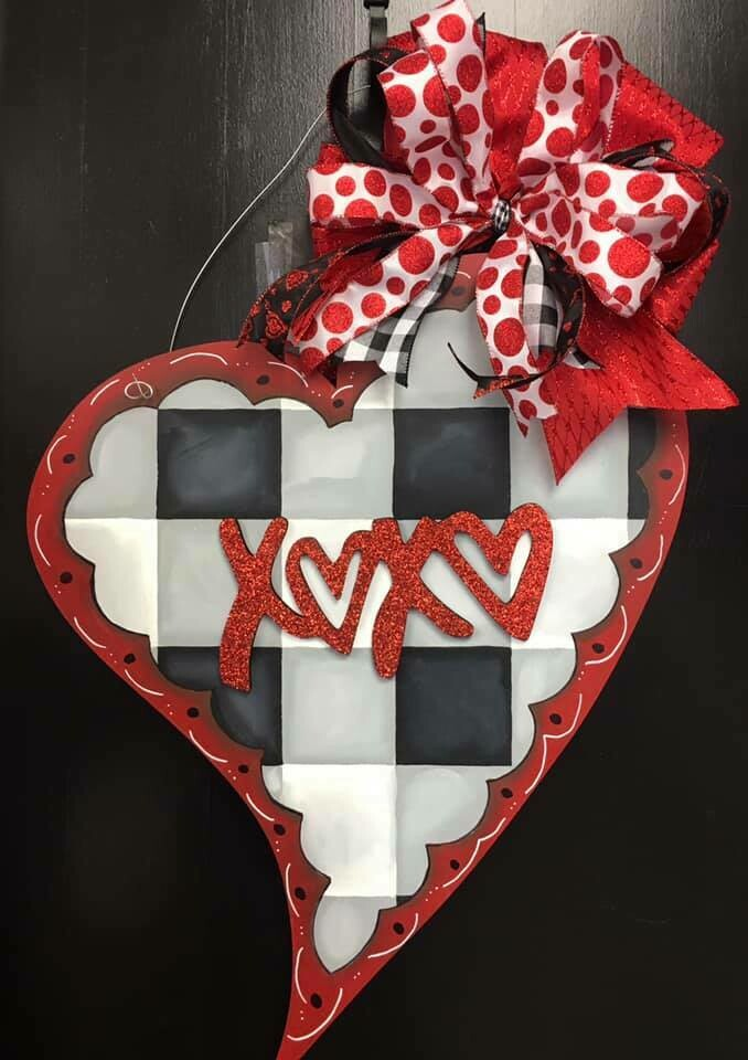 DIY Buffalo Check Valentine's Heart