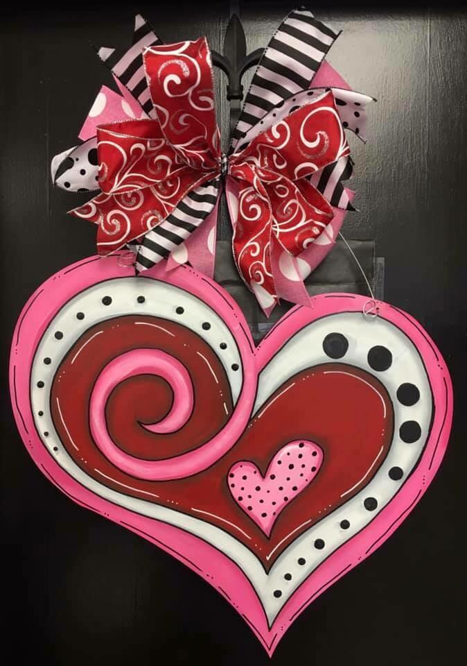 Valentines Heart w/ Swirls