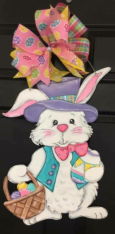 Easter Bunny w/ Tophat and basket