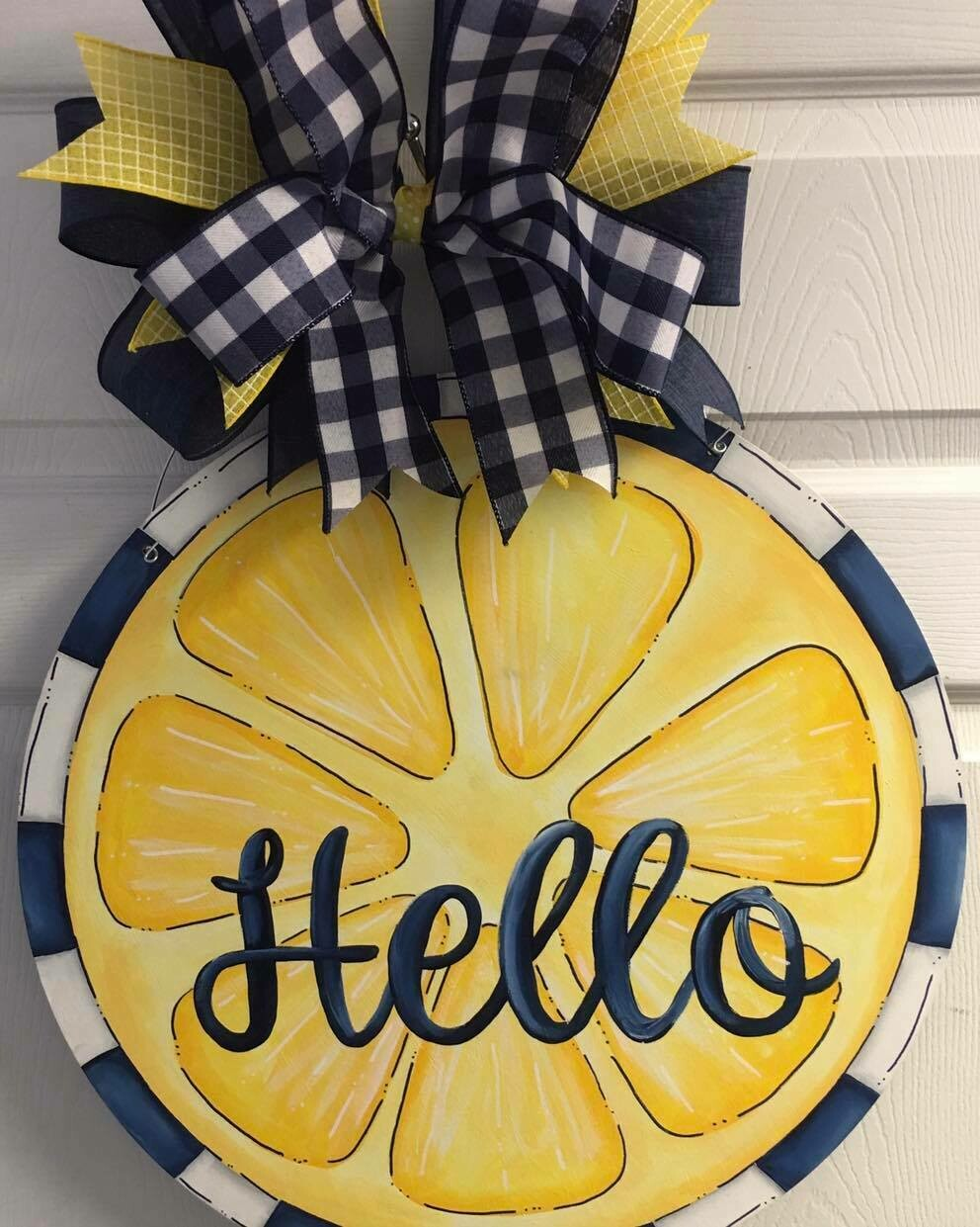 Hello Lemon Door Hanger