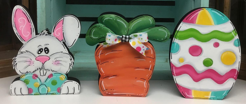 DIY Easter Shelf Sitters set
