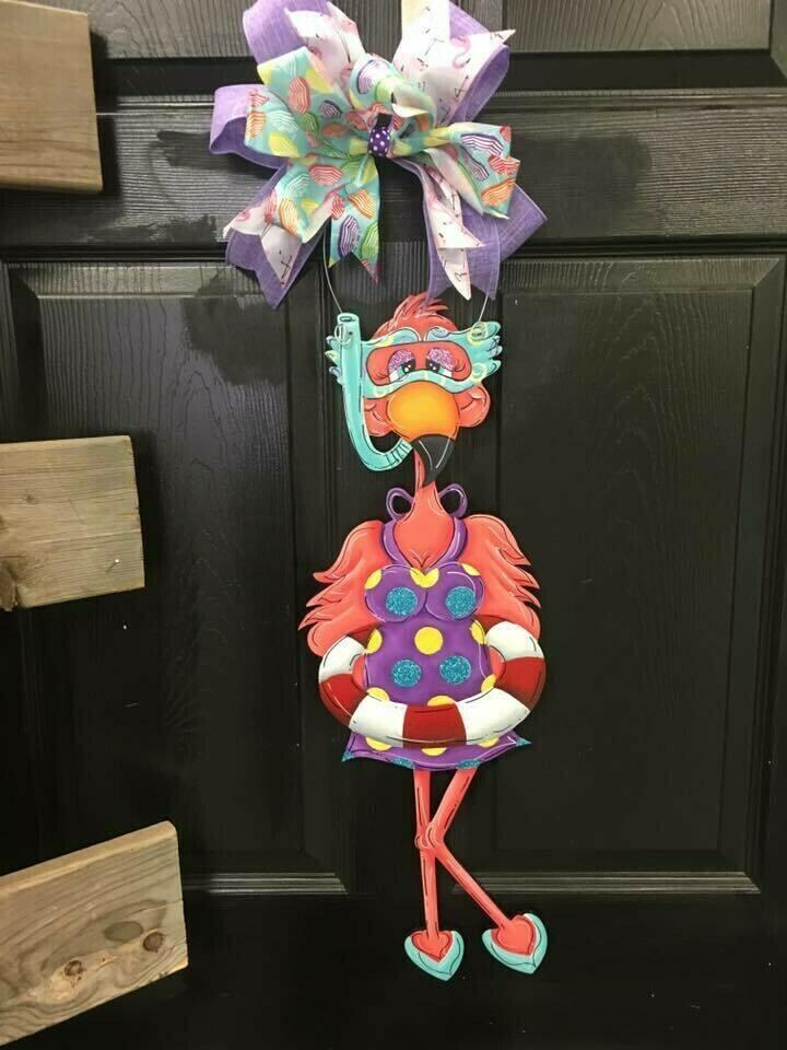 Flamingo Snorkel Door Hanger