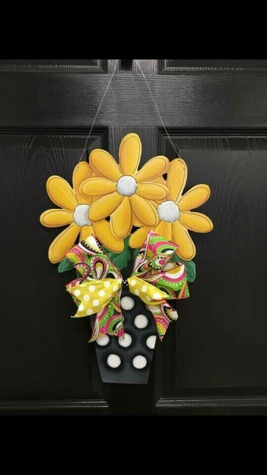 Three Flower Pot Door Hanger