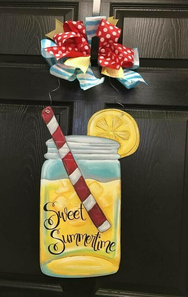Lemonade Drink Door Hangers