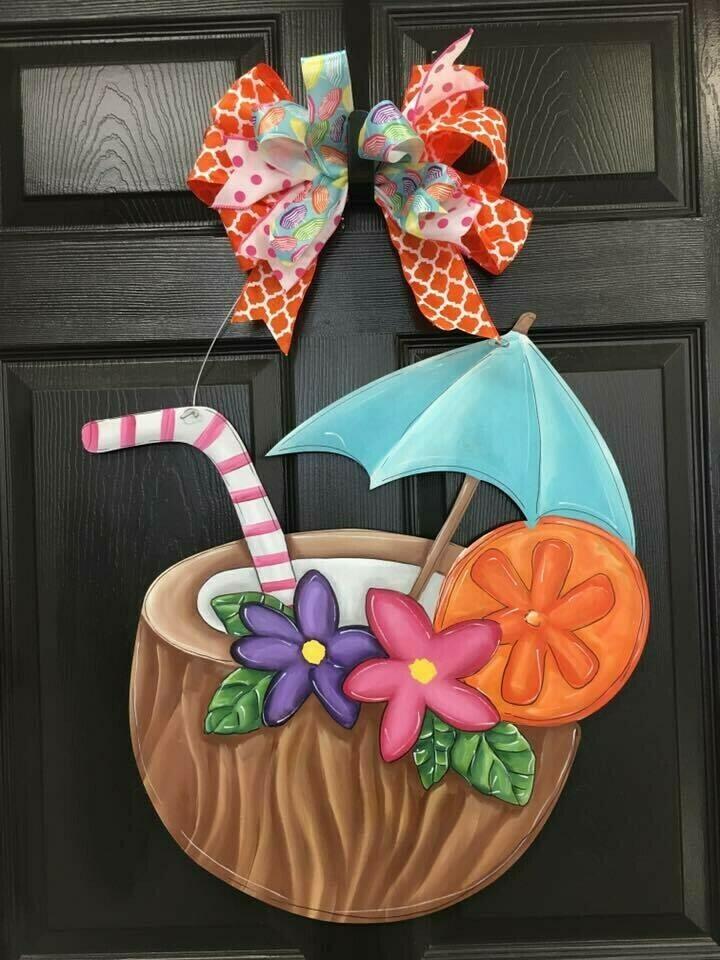 Coconut Drink Door Hangers