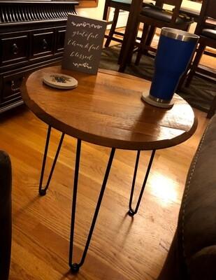Barrel Lid End Table