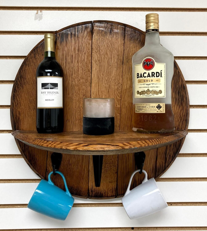 Barrel Lid Shelf with 2 hooks