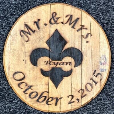 Mr. & Mrs. FDL Date Engraved Barrel Lid