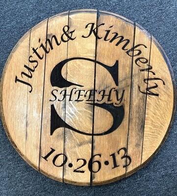 Custom Name Engraved Barrel Lid