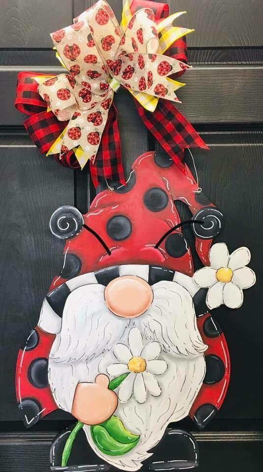 Ladybug Gnome Door Hanger