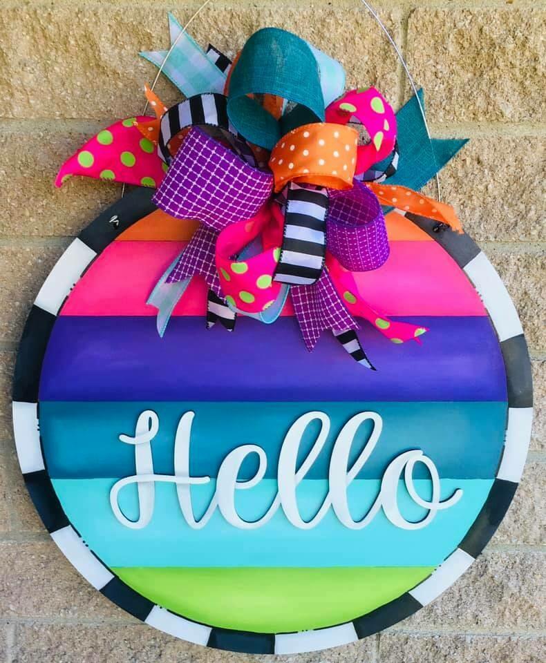 DIY Hello Circle Colorful Side Slat