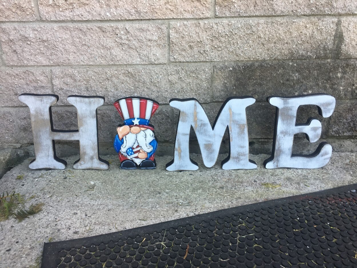 4th of July Gnome Home Shelf Sitter