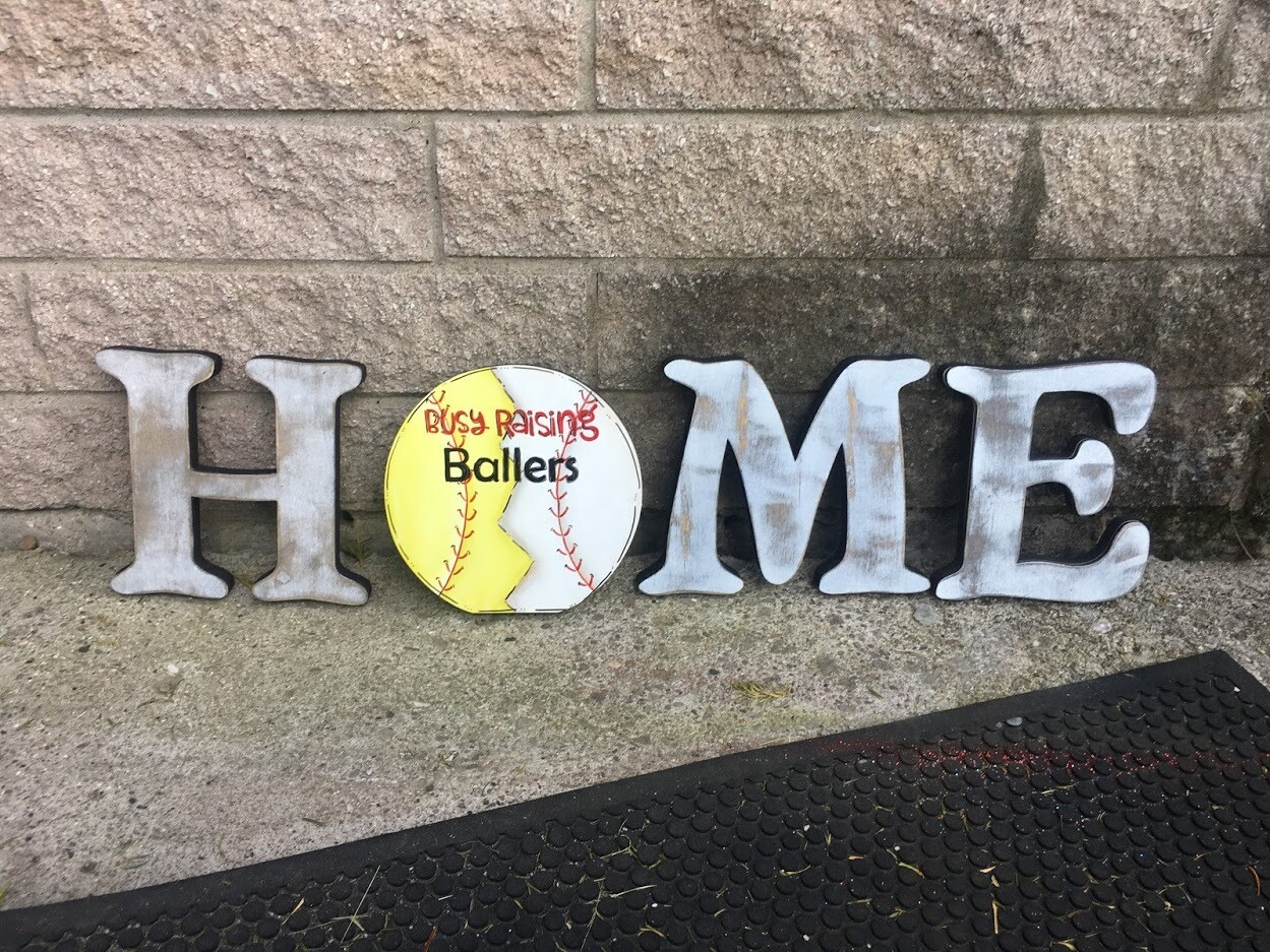 """Busy Raising Ballers"" Sport Ball Home Insert Only"