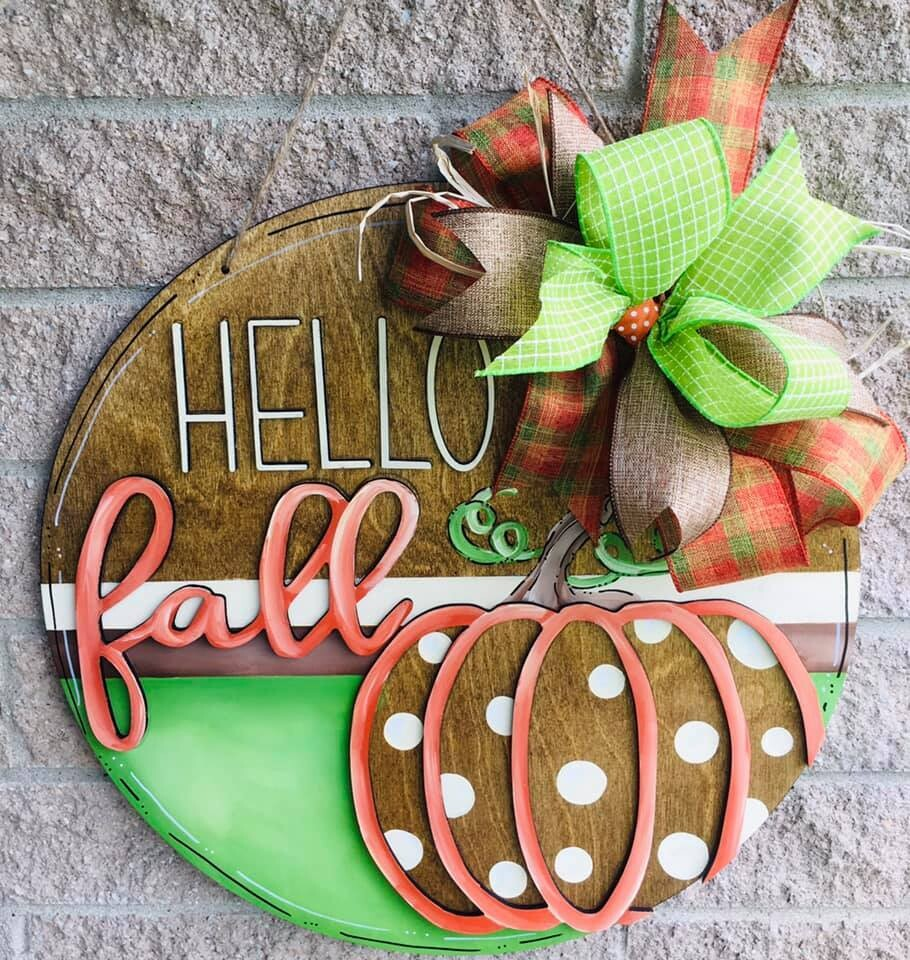Hello Fall Stained Circle Paint Class