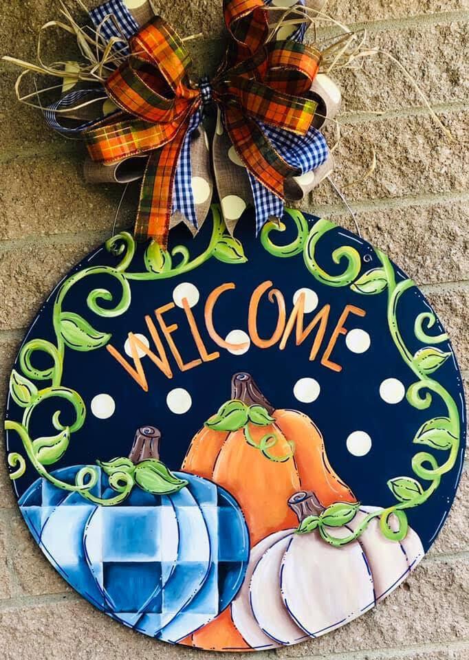 Pumpkin welcome circle