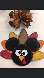 Mickey Turkey Door Hanger Paint Class