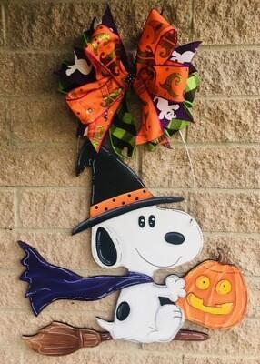 Snoopy Witch Door Hanger