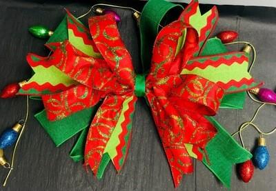 Christmas Door Hanger Bow