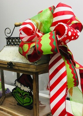 Christmas Porch Board Bow