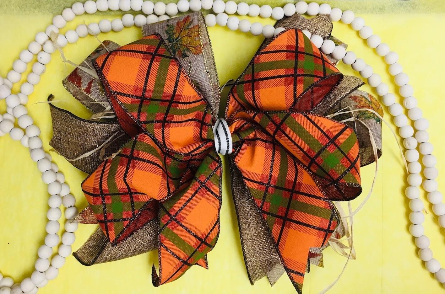 Fall Door Hanger Bow