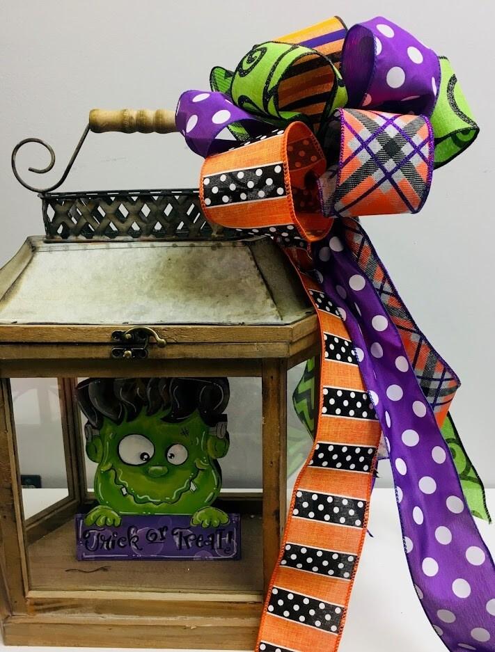 Halloween Porch Board Bow
