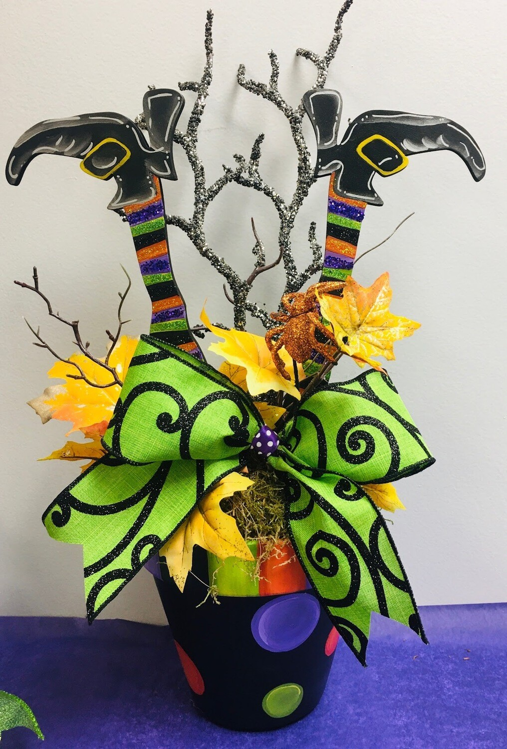 Witch Leg Flower Pot Stakes