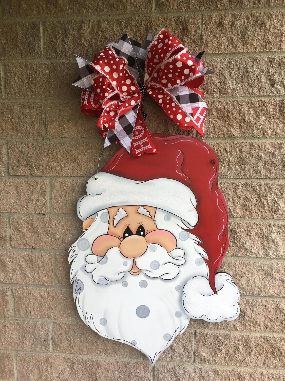"""Santa Face """"HO HO HO""""  Door Hanger"""
