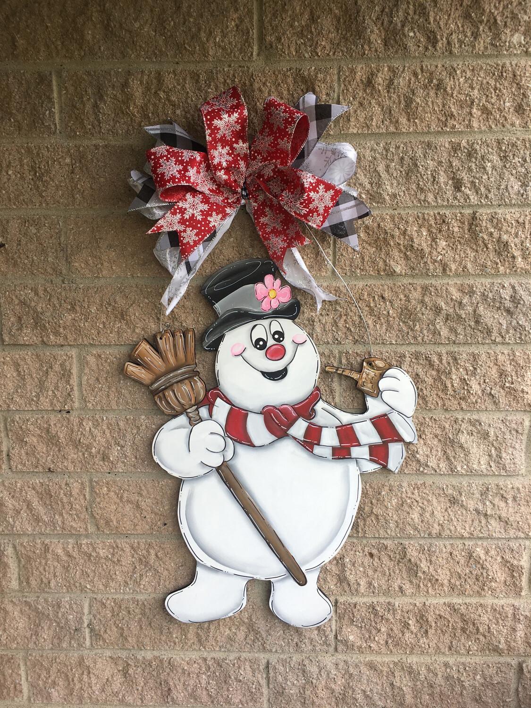 Frosty The Snowman Door Hanger