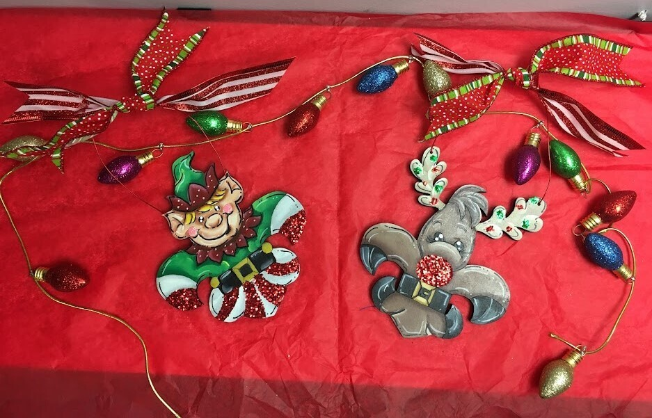 Elf/Reindeer FDL Ornament