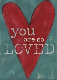 you are so loved heart limited edition 5x7