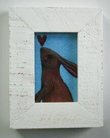 bunny with heart 2x3