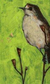 little bird on branch 2x3