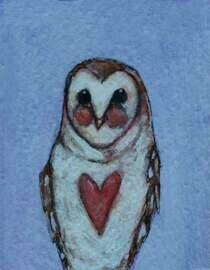 little owl artwork 2x3