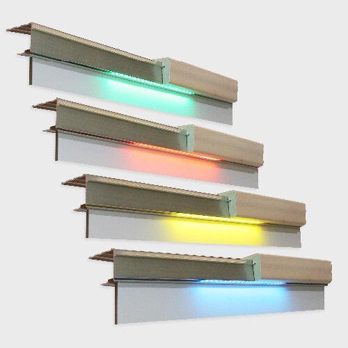 Profilé Aluminium en U 40 Led sur 60 cm 12 Leds long 1200 mm