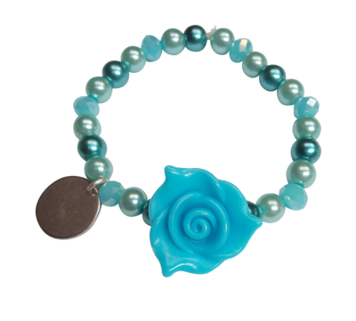 Elastic Flower Girl Bracelets