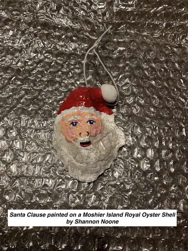 Hand-Painted Santa Ornament