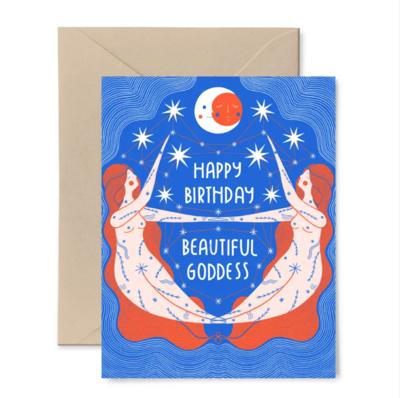 Birthday Goddess Card GB