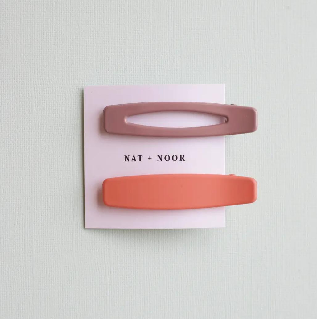 Lani In Peach + Mauve Hair Clip Set