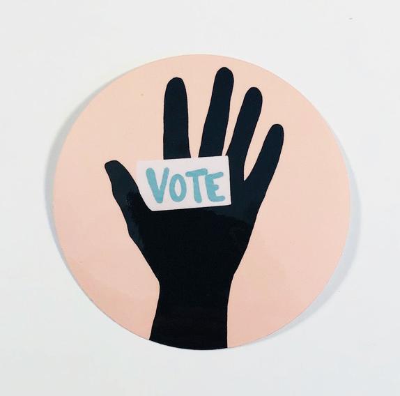 Vote Sticker Pink