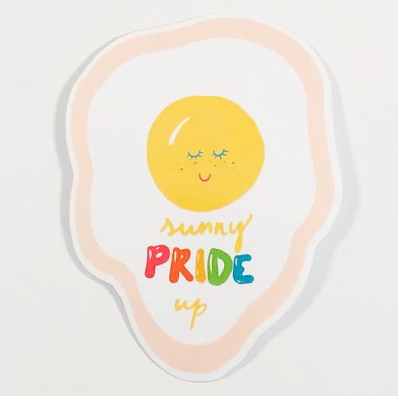 Sunny Pride Up Sticker