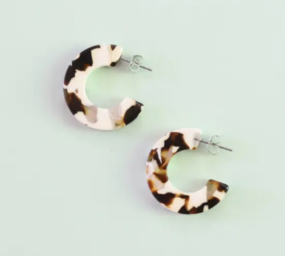Ray In Coco Cream Earrings