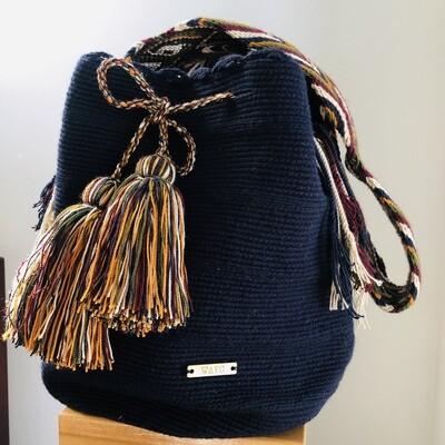 Blue Wayuu bag