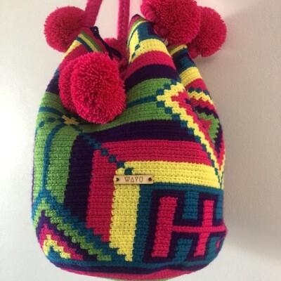 Rainbow Wayuu bag