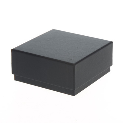 Box Square Black 87x87mm