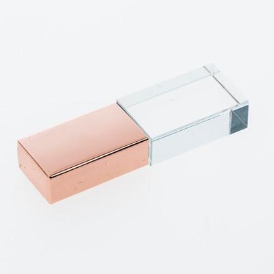Rose Gold Crystal USB